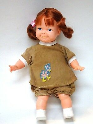 1967 Ideal Car Toddler Thumbelina Pullstring Doll w/ 2 PC Outfit Working Doll*NM