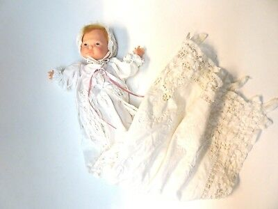 1967 Ideal Newborn Thumbelina w/Christening Dress Outfit NON Working Doll*