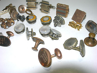 Vintage To Victorian Cufflinks Parts Singles Pieces Repair Lot