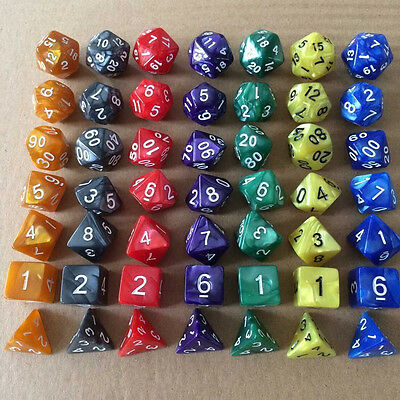 7Pcs Acrylic Multi-sided Dice Roleplay Table Board Entertainment Bar Club Toy