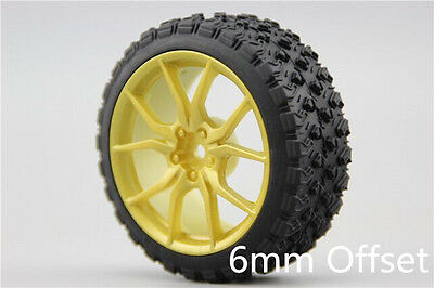 4Pcs Set Rally On-Road Ruber Tire Wheel Rims For HPI Racing 1:10 RC Car 12mm Hex