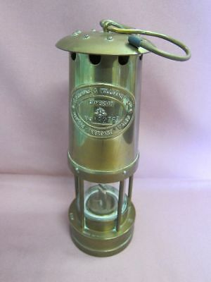 Thomas & Williams Cambrian Aberdare Wales Grubenlampe miners lamp Messing 13154