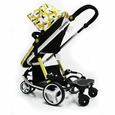 Baby Travel Board Stroller Black Ride On Buggy For Mamas & Papas Solo