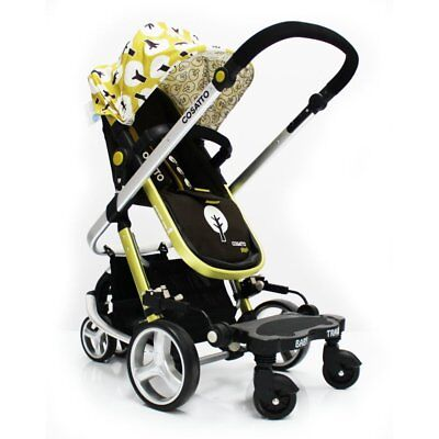 Buggy Stroller Pram Board To Fit Cosatto Giggle - Black/Grey