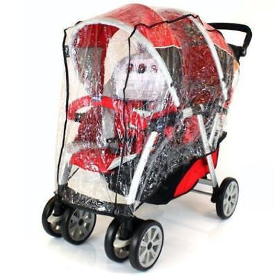 Universal Graco Stadium Duo Tandem Double Raincover Safety