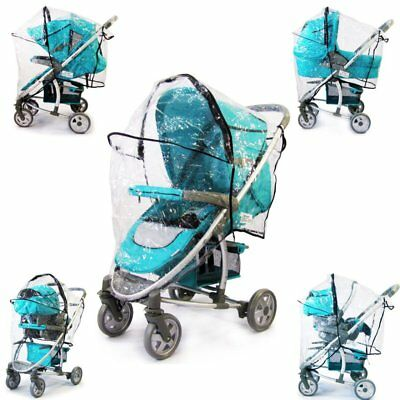 Rain Cover Cover For Hauck Malibu Fits Carseat Carrycot Stroller 3 In 1
