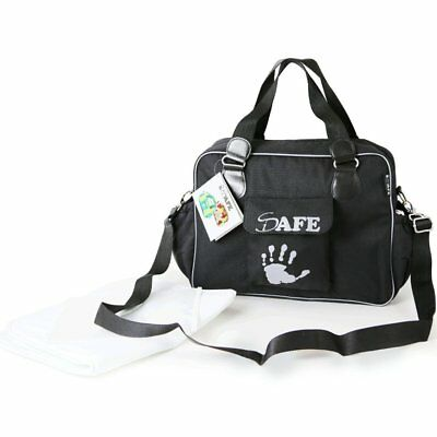 iSafe Changing Bag Luxury Quality - Black (All Black)
