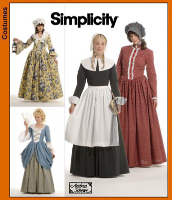 SIMPLICITY ANDREA SCHEWE Misses Sewing Pattern 3723 Historical ...