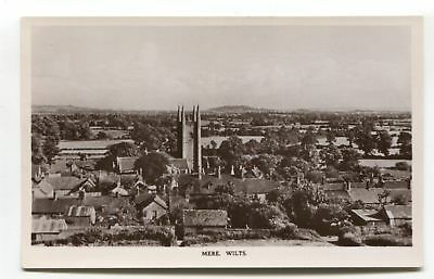 Mere, Wiltshire - general view - c1950's real photo postcard, local publisher