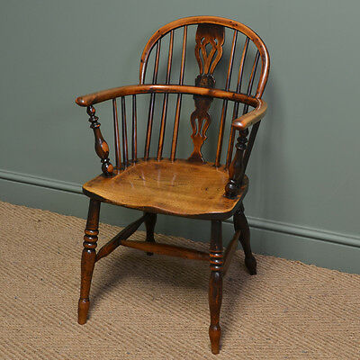 Spectacular Yew And Elm Georgian Antique Windsor Chair