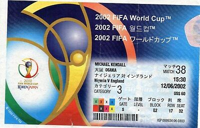 2002 World Cup England V Nigeria In Osaka On 12/06/2002 Good Condition