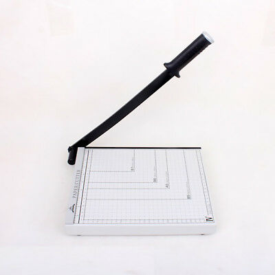 Stack Paper Cutter Guillotine 12 Sheets Capacity 7.87''x 6.69'' White