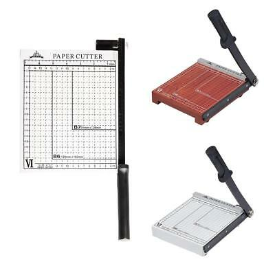 Brown PAPER CUTTER Stack Paper Trimmer Guillotine 12 Sheets Capacity