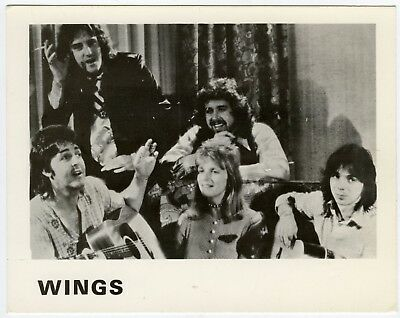 Beatles Paul McCartney & Wings 1976 At The Speed Of Sound EMI Promotional Card