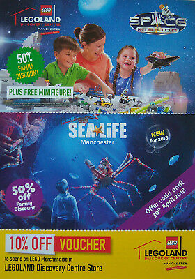 Legoland SeaLife Centre Manchester 50% off Voucher plus Free Minifigure
