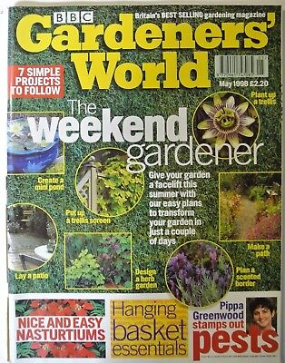 BBC Gardeners' World Magazine. May, 1998. Design a herb garden. Lay a patio.