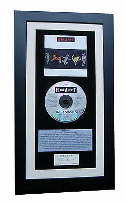 HEART Bad Animals CLASSIC CD GALLERY QUALITY FRAMED+EXPRESS GLOBAL SHIPPING