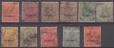 Kuwait Overprint On India Kg V ½ Anna To 6 Annas Scarce As Used