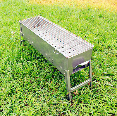 Household Outdoor Collapsible Stainless Steel Household Portable Grill BBQ *