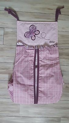 Cocalo Baby Sugar Plum Purple Butterfly Diaper Stacker NWOT