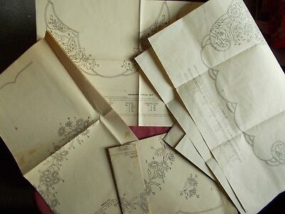 5 Vintage Embroidery Patterns -  Tablecloth Etc