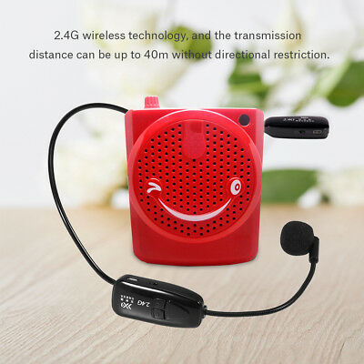2.4G Wireless Headset Microphone Transmitter Receiver Auto Pairing for Teaching