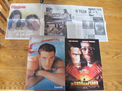 Ben Affleck Rare French Us Clippings,posters.