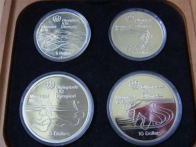 Canada. 1975 4 Pce Silver - Olympic Proof Set. (Series 5)  4-335oz ASW . Cased