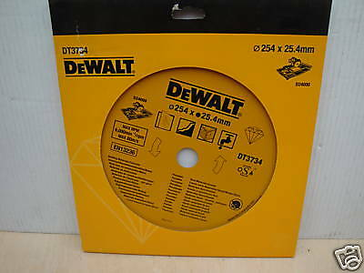 Dewalt Dt3734 254Mm X 25.4Mm Diamond Tile Cutting Disc D24000 Tilesaw
