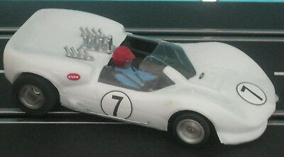 124 slotcar Russkit Chaparall 2 C,  Carrera Rennchassis , top chassis, new tyres