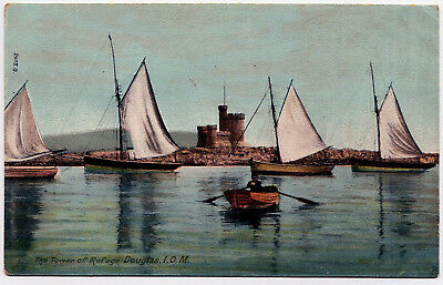 A Colour Printed P/card - The Tower Of Refuge, Douglas, Isle Of Man.