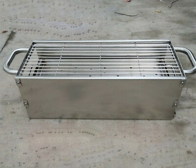 Household outdoor Length80CM Width23CM Stainless Steel Portable Grill BBQ *