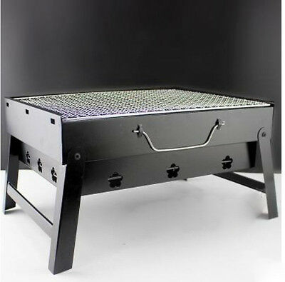 3-6 Persons Collapsible Household Outdoor Stainless Steel Portable Grill BBQ *