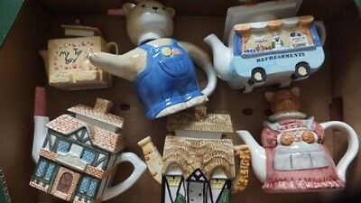 12 Novelty Teapots  Collection Only