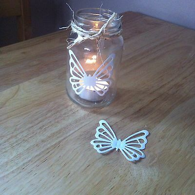 10 X White Self Adhesive Vinyl Butterfly Die Cut Shapes-Wedding Jars Anniversary