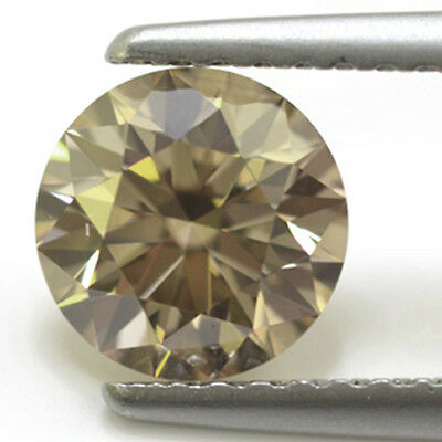1.24ct ( VvS1 )7.16 mm WHTIE YELLOW BROWN COLOR LOOSE REAL MOISSANITE