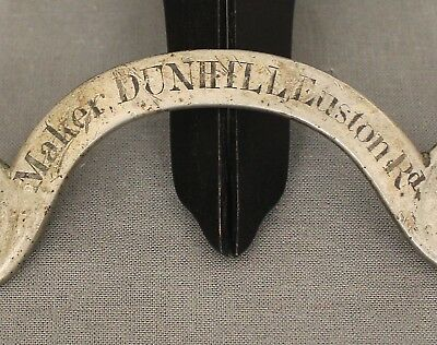 19 Century Brass Saddlers Name Plate Dunhill London