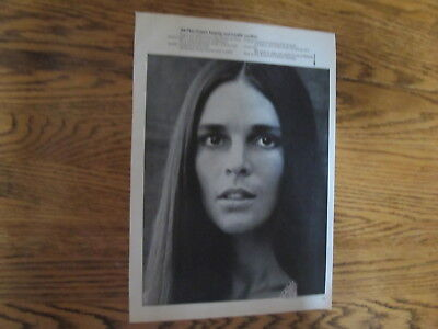 Ali Macgraw Rare Us Clipping,american Cancer Society.
