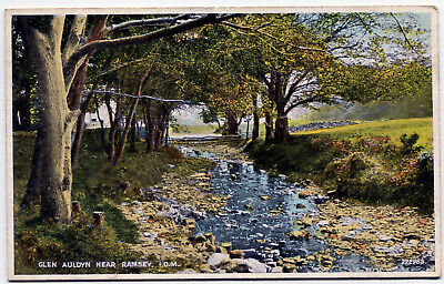 A Colour Printed P/card - Glen Auldyn Near Ramsey, Isle Of Man.
