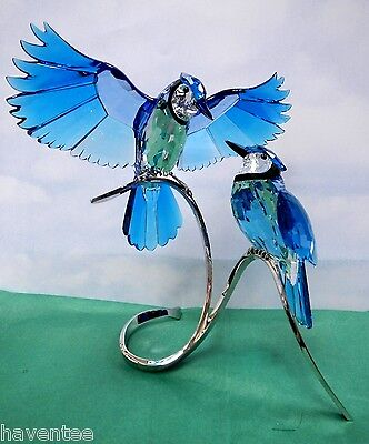Blue Jays 2013 Swarovski Crystal Birds On Branch   1176149