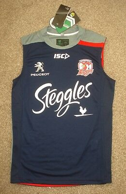 BNWT Small Sydney Roosters NRL Rugby League Singlet Vest ISC