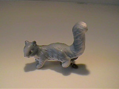 Vintage 1960 Enesco Japan Miniature Ceramic Gray Squirrel Clip On