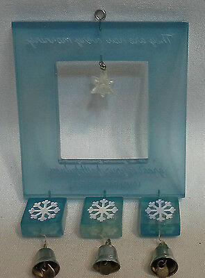 Dayspring Snow Flake Mobile Ornament Open Frame w Flakes & Bells New IOB