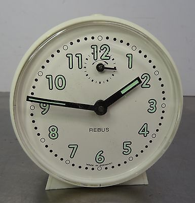 vintage alarm clock - Mechanischer Wecker Uhr Rebus - made in Germany