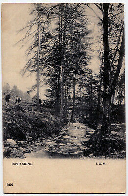 A B/white Printed, Early Undivided Back P/card  - River Scene, I.o.m.