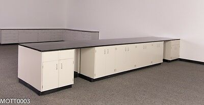 Mott  Laboratory 40' ft Cabinets with Casework Furniture
