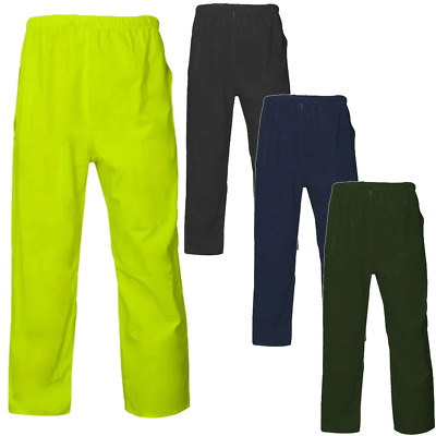 Mens Waterproof Rain Over Trousers Walking Camping Bottoms Size