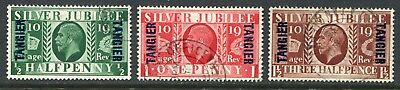 Morocco Agencies (Tangier) 1935 Silver Jubilee SG 238-240 used (cat. £30)