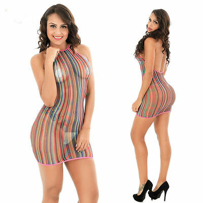 Adult's Hot Colors Sexy lingerie Sexy Bodystockings intimates Bodysuit Dress A17