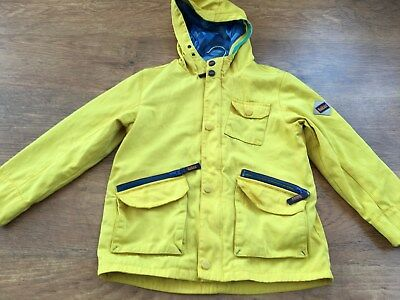 Ted Baker Boys Yellow Hooded Coat Jacket 9Yrs